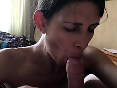 POV Hotel blowjob and swallow while on vacation