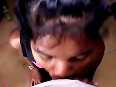 HD Heather Deep gets huge messy facial in kitchen