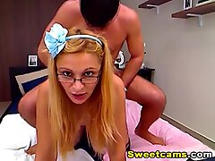 Hot Blond Wife Hardcore Doggy Fuck and Swallow HD