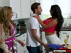 super-steamy cougars August Taylor and Richelle Ryan take on one lucky young lollipop