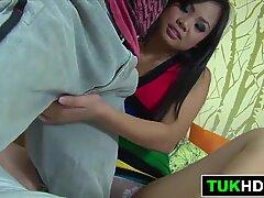Thai Slut BJ And Pussy Rub