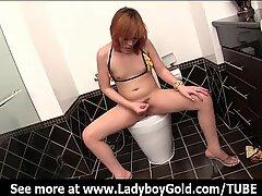 Ladyboy Nanny Shower Masturbation