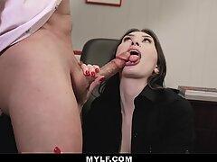 MYLF - Big Dick Boss Dumps His Load Inside Hot Mylf
