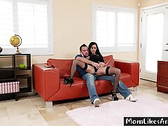 Mom Yanks Step Son'_s Cock Out Of His Pants And Stuffs It In Her Cunt - Lily Lane, Johnny Castle - 1080p