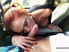 Busty Beauty Blakclotus0508 Sucked in the Car in the Parking Lot
