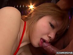 Rui Hazuki had a foursome, the other day and enjoyed it