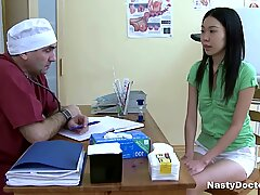 Cocked Doctor Smashed Asian Whore
