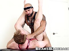 Muscular bear drilling handsome bottoms raw hole