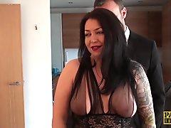PASCALSSUBSLUTS - Curvy Nikki Gold fed jizz after domination